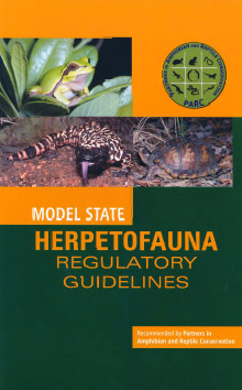 Coverpage of the Model State Herpetofauna Regulatory Guidelines